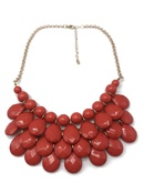 Alloy Fashion bolso cesta necklace  red NHOM1290red