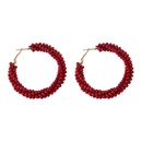 Alloy Fashion Geometric earring  red NHJQ11201red