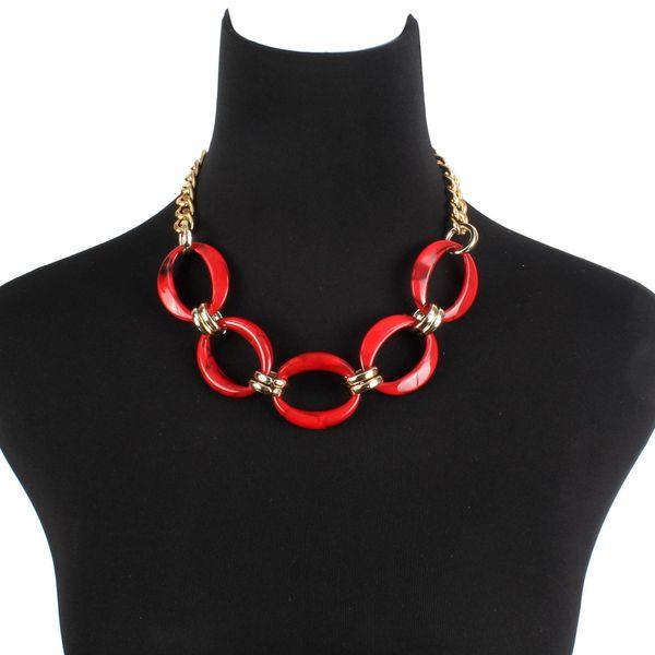 Plastic Fashion Geometric   (red) NHCT0433-red