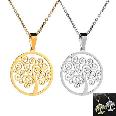 Titanium&Stainless Steel Fashion Flowers   (Necklace steel) NHHF1289-Necklace-steel's discount tags