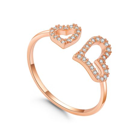 Plated alloy ring - heart miss (rose alloy) NHNPS5663's discount tags