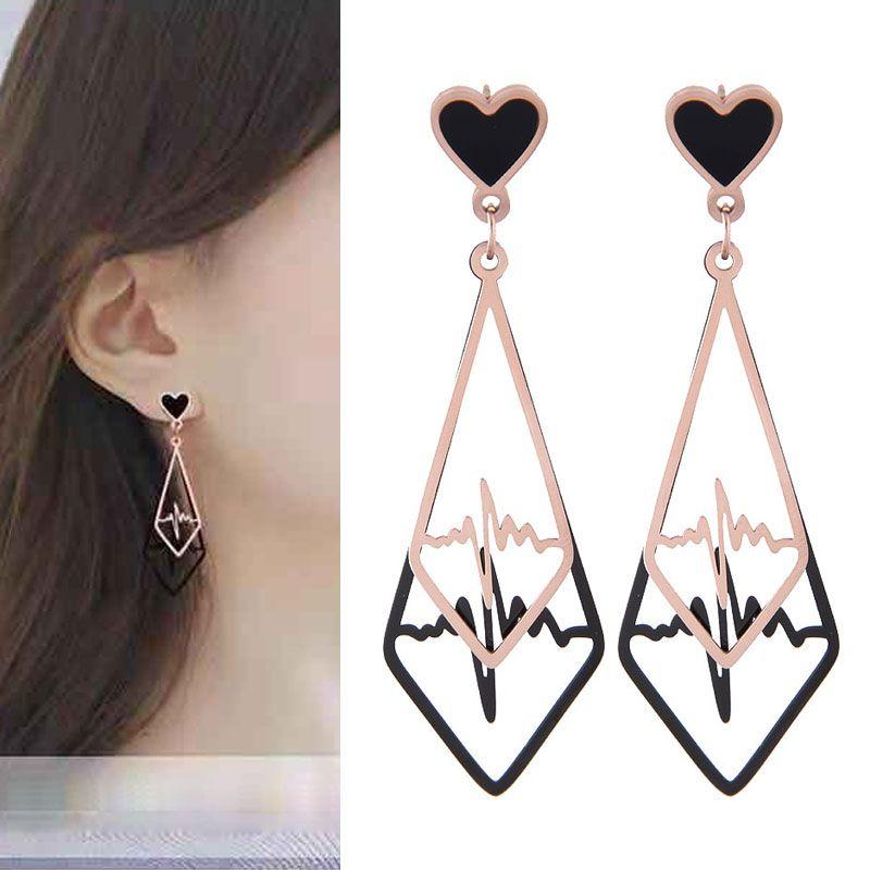 Titanium&Stainless Steel Korea earring  Fine Jewelry NHNSC14854