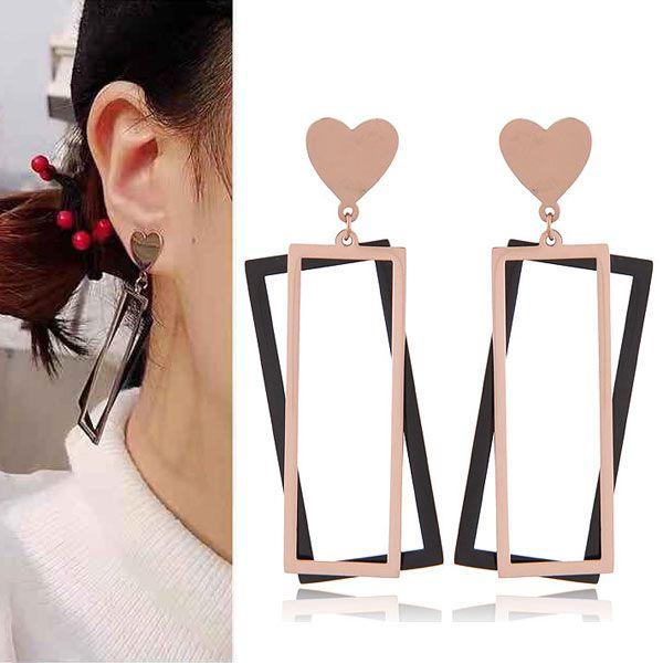 Titanium&Stainless Steel Korea earring  Fine Jewelry NHNSC14857