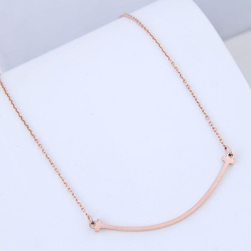 TitaniumStainless Steel Korea necklace  Fine Jewelry NHNSC14905