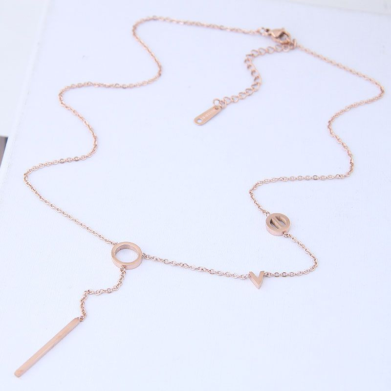 TitaniumStainless Steel Korea necklace  Fine Jewelry NHNSC14910