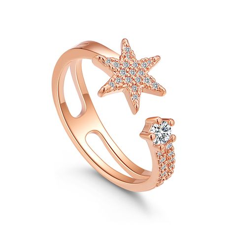 Alloy Ring--Flower Flower Language (Rose Alloy) Fashion Jewelry NHKSE29991-7's discount tags