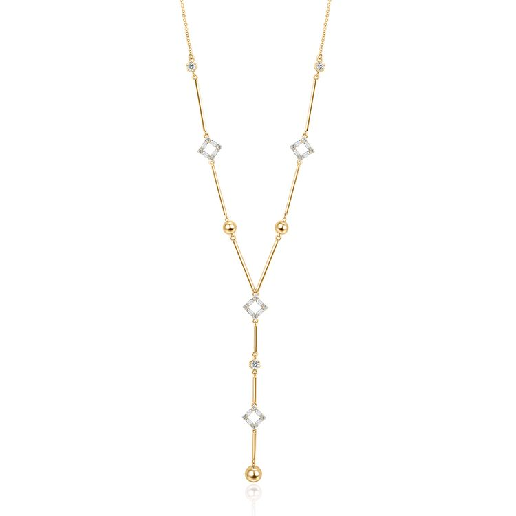 Alloy Sweater Chain - Parallel World (Champagne Alloy) Fashion Jewelry NHKSE29972