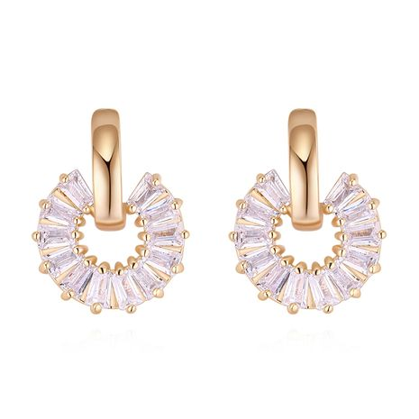 Boucles d'oreilles en alliage S925 alliage - fleur de coeur (alliage de Champagne) bijoux de mode NHKSE30043's discount tags