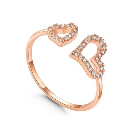 Plated alloy ring - heart miss (rose alloy) Fashion Jewelry NHKSE30130-7's discount tags