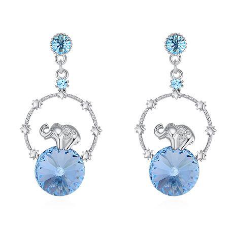 Boucles d'oreilles en cristal imité autrichien - Éléphant créatif bébé (bleu de mer) Fine Jewelry NHKSE30064's discount tags