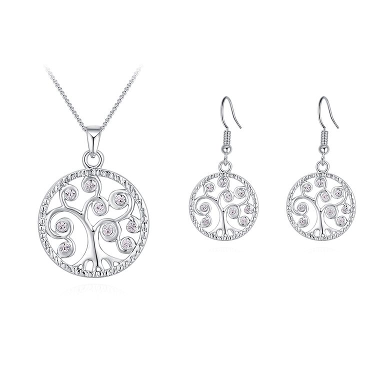 Alloy Set--Acacia Tree C (Platinum) Fine Jewelry NHKSE30230