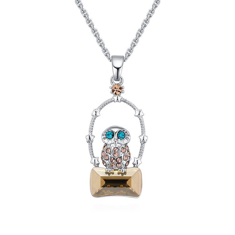 Austrian Imitated crystal Necklace  Empty City Eagle Alloy Phantom Fine Jewelry NHKSE30221