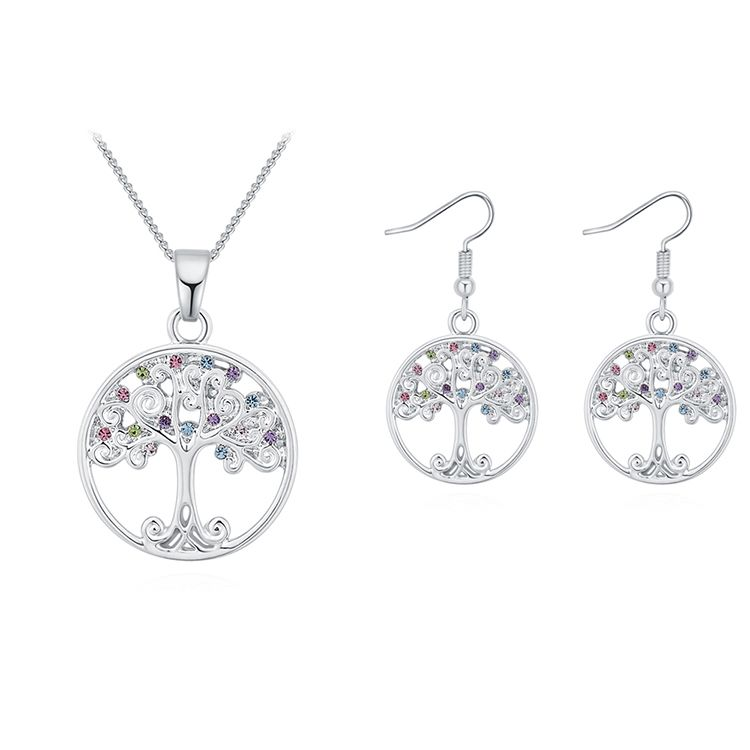 Plated Alloy SetAcacia Tree A Platinum + Color Fine Jewelry NHKSE30207