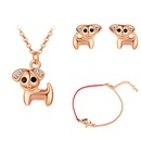 Plated alloy set  stay cute puppy rose alloy + white Fine Jewelry NHKSE30146