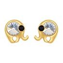 Austrian Imitated crystal S925 Alloy Needle Earrings  Cartoon Elephant White Fine Jewelry NHKSE30090