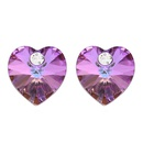 Austrian Imitated crystal Auricular Acupuncture  Heart White Fine Jewelry NHKSE30316