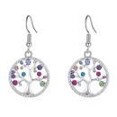 Alloy EarringsAcacia Tree B Platinum + Color Fine Jewelry NHKSE30209