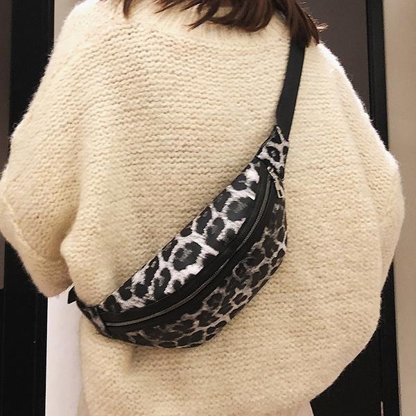 PU Korea  Waist bag  (Leopard white)   NHLD0626-Leopard-white