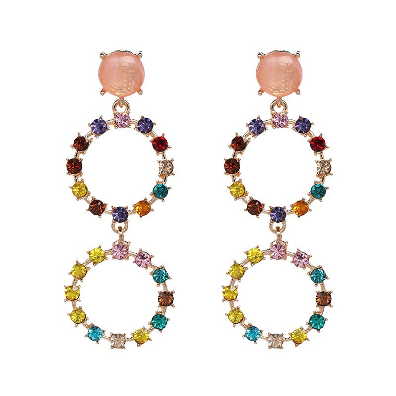 Alloy Fashion Geometric earring  Powder color NHJJ5380Powdercolor