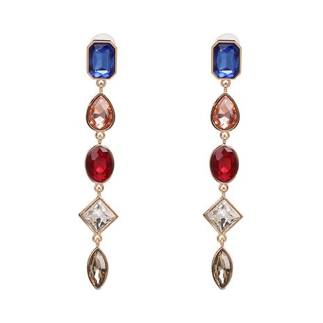 Alloy Fashion Geometric earring  (Blue color) NHJJ5383-Blue-color's discount tags