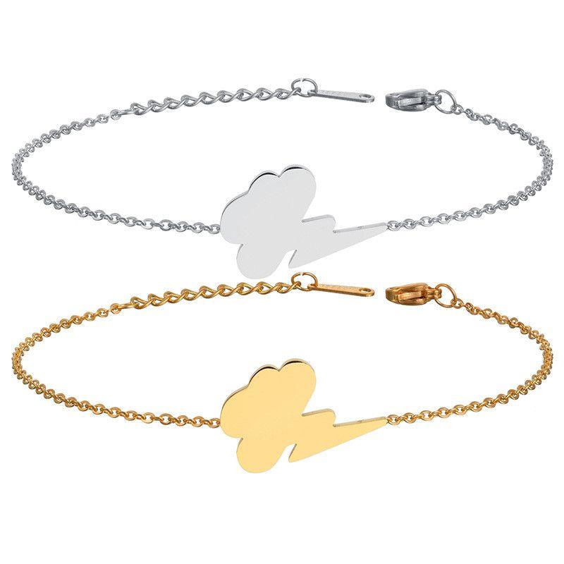 Titanium&Stainless Steel Simple Geometric bracelet  (Steel color) NHHF1232-Steel-color