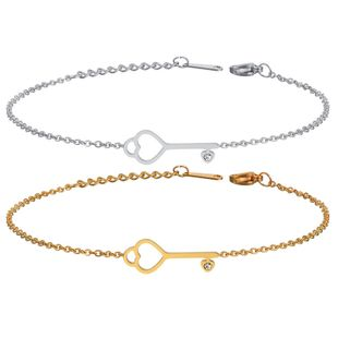 Titanium&Stainless Steel Korea Geometric bracelet  (Steel color) NHHF1235-Steel-color's discount tags