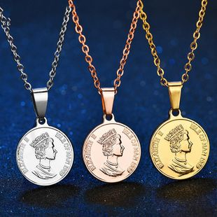 Titanium&Stainless Steel Fashion Cartoon necklace  (Steel color) NHHF1237-Steel-color's discount tags