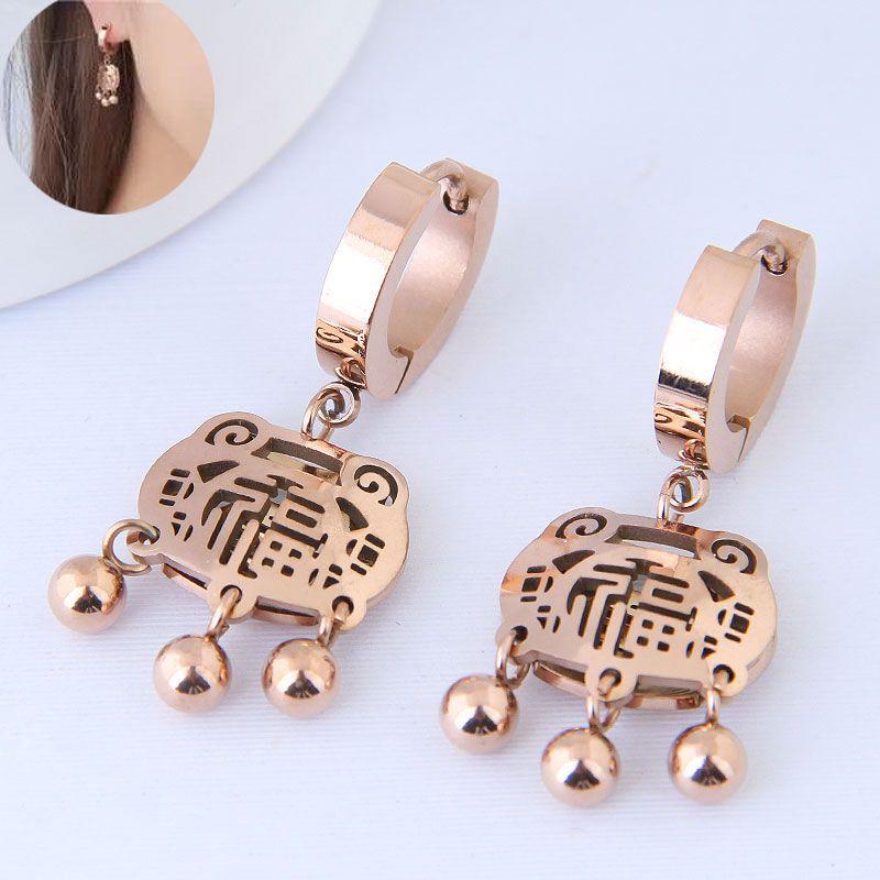 Titanium&Stainless Steel Korea earring NHNSC14583