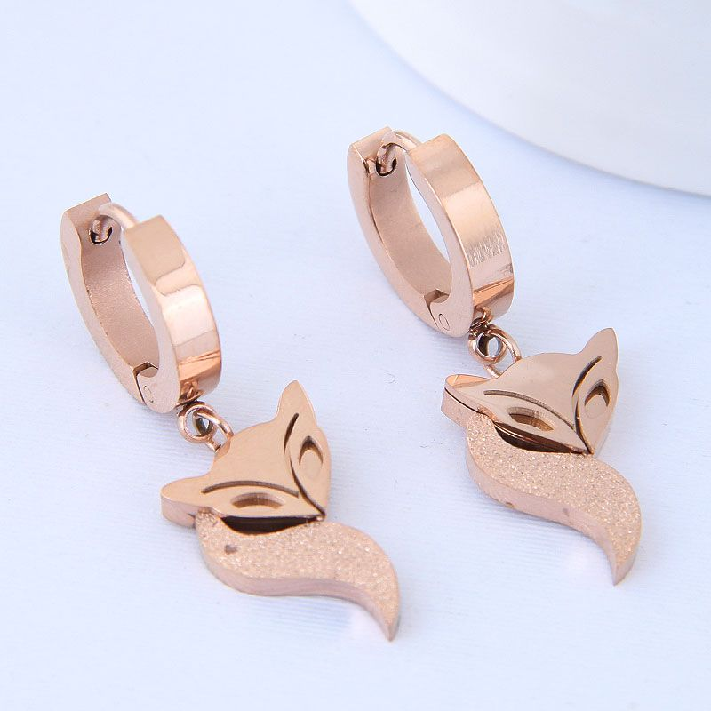 Titanium&Stainless Steel Korea earring NHNSC14584