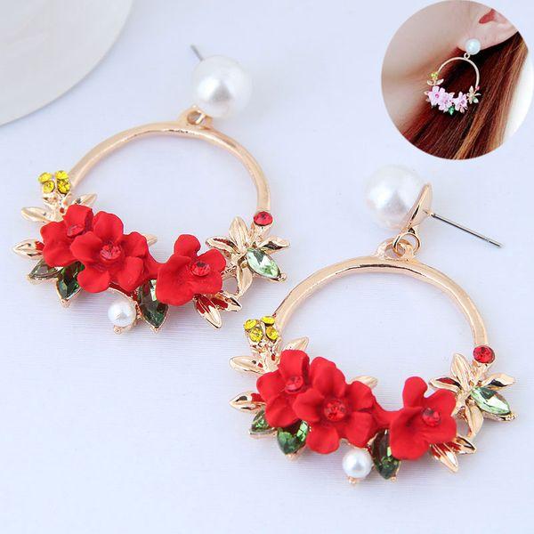 Alloy Fashion earring NHNSC14690