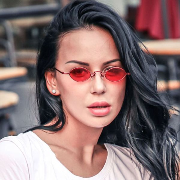 Alloy Vintage  glasses  (Red frame red piece) NHKD0594-Red-frame-red-piece