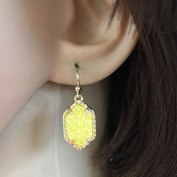 Alloy Simple  earring  (yellow) NHOM0070-yellow