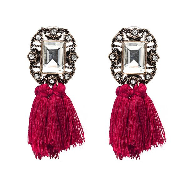 Alloy Fashion Geometric earring  (red) NHJJ4009-red