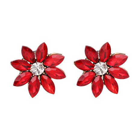 Alloy Fashion Flowers earring  (red) NHJJ4015-red's discount tags