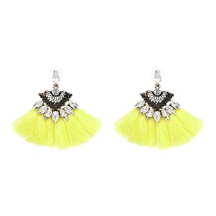 Alloy Bohemia Flowers earring  (yellow) NHJJ4021-yellow's discount tags