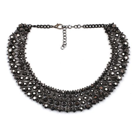 Alloy Fashion Geometric necklace  (black) NHJJ4022-black's discount tags