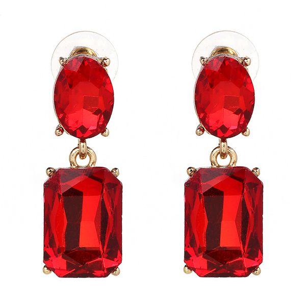 Alloy Fashion Geometric earring  (red) NHJJ4025-red