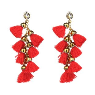 Plastic Simple Geometric earring  (red) NHJJ4041-red's discount tags