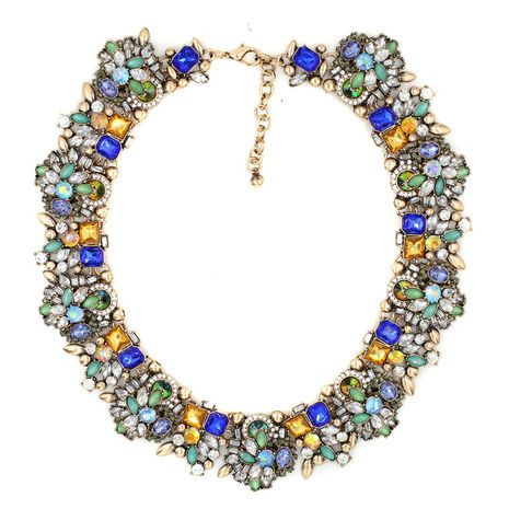 Alloy Fashion Geometric necklace  (blue) NHJJ4043-blue's discount tags