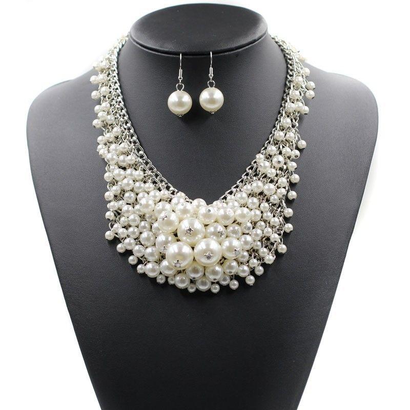 Alloy Fashion Geometric necklace  (white) NHJJ4048-white