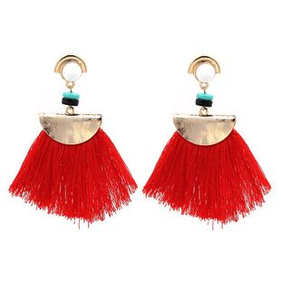 Alloy Bohemia Tassel Earrings  (red) NHJJ4052-red's discount tags