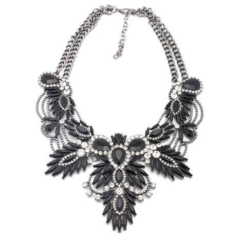 Alloy Fashion Geometric necklace  (black) NHJJ4079-black's discount tags
