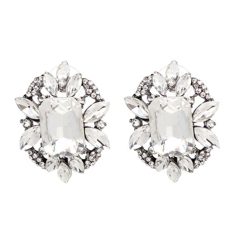 Alloy Fashion Geometric earring  (white) NHJJ4119-white