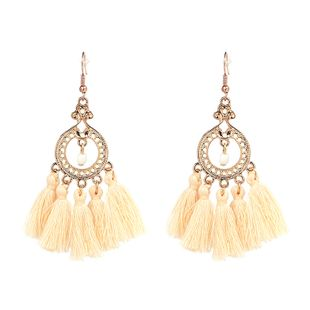 Alloy Bohemia Geometric earring  (yellow) NHJJ4125-yellow's discount tags