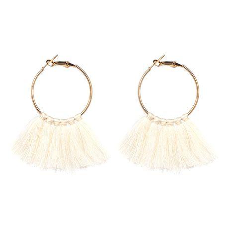 Alloy Vintage Geometric earring  (white) NHJJ4155-white's discount tags