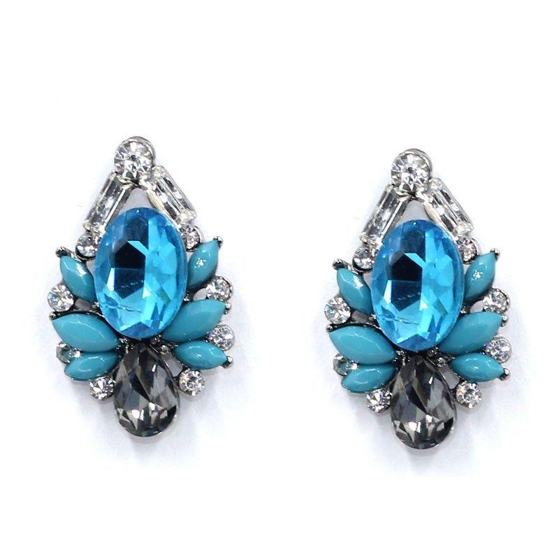 Boucle d39oreille gomtrique Fashion en alliage bleu NHJJ4180bleu