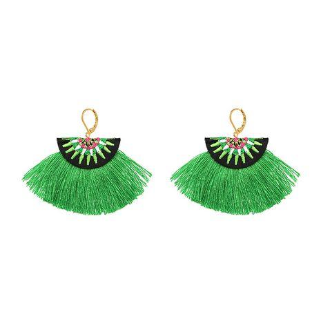 Alloy Vintage Geometric earring  (green) NHJJ4182-green's discount tags