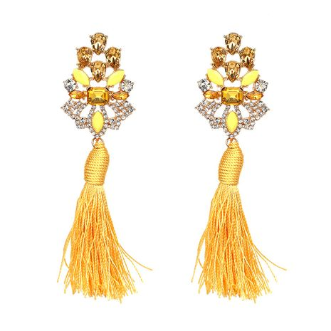 Alloy Vintage Flowers earring  (yellow) NHJJ4230-yellow's discount tags