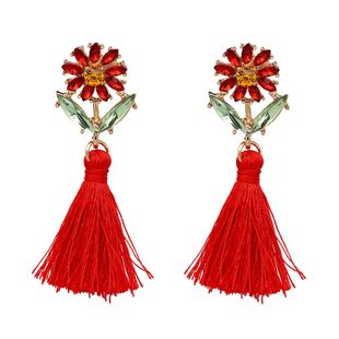 Alloy Korea Flowers earring  (red) NHJJ4232-red's discount tags