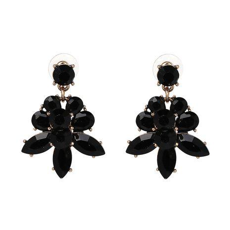 Plastic Fashion Geometric earring  (black) NHJJ4238-black's discount tags